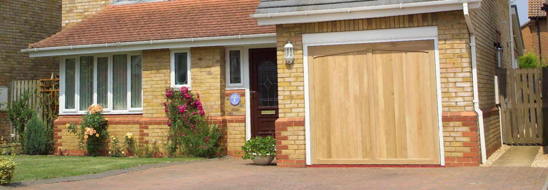 Timber up and over garage door